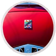1950 Healey Silverston Sports Roadster Emblem Round Beach Towel