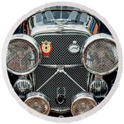 1950 Jaguar Xk120 Roadster Grille Round Beach Towel