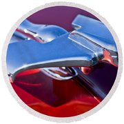 1950 Nash Hood Ornament Round Beach Towel