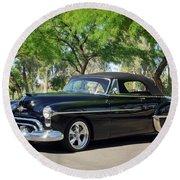 1950 Oldsmobile 88 -004c Round Beach Towel