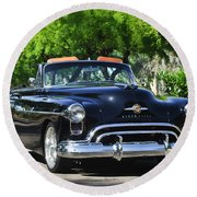 1950 Oldsmobile 88 -105c Round Beach Towel