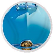 1950 Oldsmobile Hood Ornament Round Beach Towel by Jill Reger