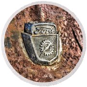 1950's Ford Truck Emblem Round Beach Towel