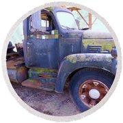1950s International Truck Round Beach Towel