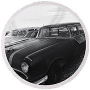 1950's Pontiac By Cathy Anderson  Round Beach Towel