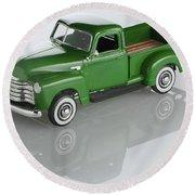 1951 Chevy Pick-up Round Beach Towel