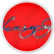 1951 Kaiser Henry J Emblem -460c Round Beach Towel