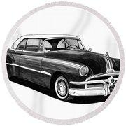 1951 Pontiac Hard Top Round Beach Towel