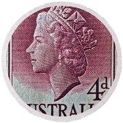 1952-1958 Australia Queen Elizabeth II Stamp Round Beach Towel
