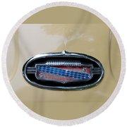 1952 Buick Eight Emblem Round Beach Towel