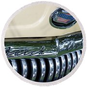 1952 Buick Eight Grill Round Beach Towel
