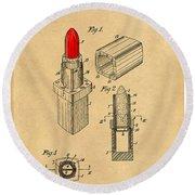 1952 Chanel Lipstick Case 4 Round Beach Towel