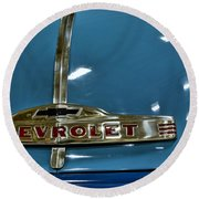 1952 Chevrolet Pickup Hood Round Beach Towel