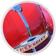 1952 Chevrolet Suburban Hood Ornament Round Beach Towel