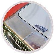 1952 Cunningham C-3 Vignale Cabriolet Grille - Hood Emblem Round Beach Towel