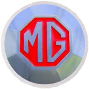1952 Mg Roadster Emblem Round Beach Towel