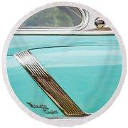 1952 Oldsmobile 98 Holiday Hardtop Side Emblem -1454c Round Beach Towel