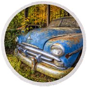 1952 Plymouth Round Beach Towel