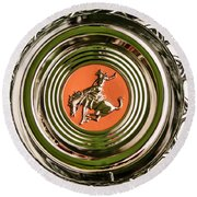 1952 Sterling Gladwin Maverick Sportster Wheel Emblem - 1720c Round Beach Towel