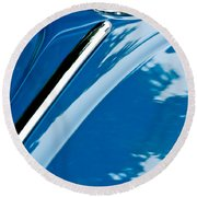 1952 Volkswagen Vw Bug Hood Emblem Round Beach Towel