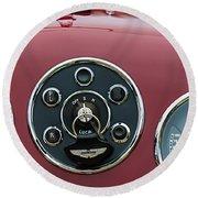 1953 Aston Martin Db2-4 Bertone Roadster Instrument Panel Round Beach Towel