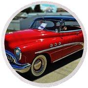 1953 Buick Round Beach Towel