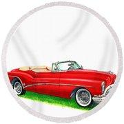 1953 Buick Skylark Convertible Round Beach Towel
