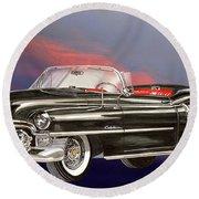 1953  Cadillac El Dorardo Convertible Round Beach Towel