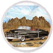 1953 Cadillac Eldorado Biarritz Round Beach Towel