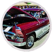 1953 Chevy Belair Round Beach Towel