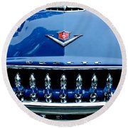 1953 Desoto Firedome Convertible Grille Emblem Round Beach Towel