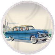 1953 Dodge Coronet - Square Format Image Round Beach Towel