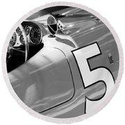 1953 Ferrari 375 Mm Spider Round Beach Towel