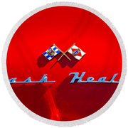 1953 Nash-healey Roadster Emblem Round Beach Towel