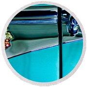 1953 Packard Caribbean Convertible Emblem 4 Round Beach Towel