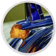 1953 Pontiac Hood Ornament 3 Round Beach Towel by Jill Reger