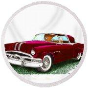 1953 Pontiac Parisienne Concept Round Beach Towel by Jack Pumphrey