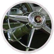 1953 Pontiac Steering Wheel Round Beach Towel