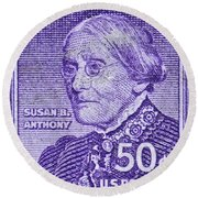 1954-1961 Susan B. Anthony Stamp Round Beach Towel