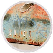 1954 Buick Special Hood Ornament Round Beach Towel by Jill Reger