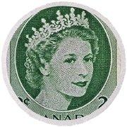 1954 Canada Stamp Round Beach Towel