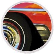 1954 Chevrolet Convertible Wheel Round Beach Towel