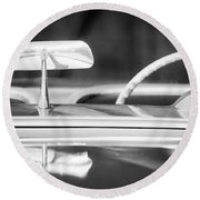 1954 Chevrolet Corvette Steering Wheel -311bw Round Beach Towel