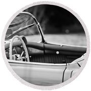 1954 Chevrolet Corvette Steering Wheel -407bw Round Beach Towel