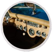 1954 Chevrolet Corvette Steering Wheel -502c Round Beach Towel