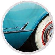 1954 Chevrolet Corvette Wheel Emblem -282c Round Beach Towel