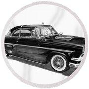 1954 Ford Skyliner Round Beach Towel