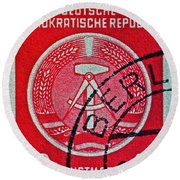 1954 German Democratic Republic Stamp - Berlin Cancelled Round Beach Towel