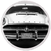 1954 Hudson Hornet In Black Round Beach Towel