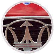 1954 Maserati A6 Gcs Emblem Round Beach Towel by Jill Reger